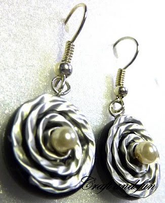 Recycling nespresso capsules: earrings