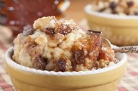Old-Fashioned Bread Pudding For a fall treat, add pears and pecans, sub golden raisins.