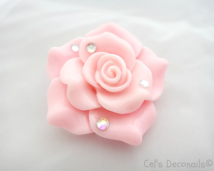 Pink rose brooch, kawaii jewelry, bridesmaid gift, flower brooch, himegyaru.