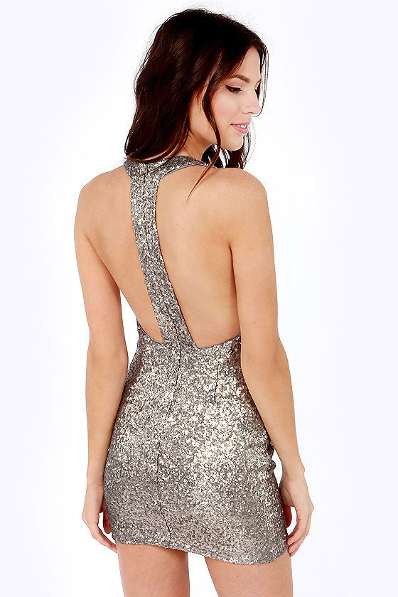 Marvelous Life of the Party Silver Sequin Dress