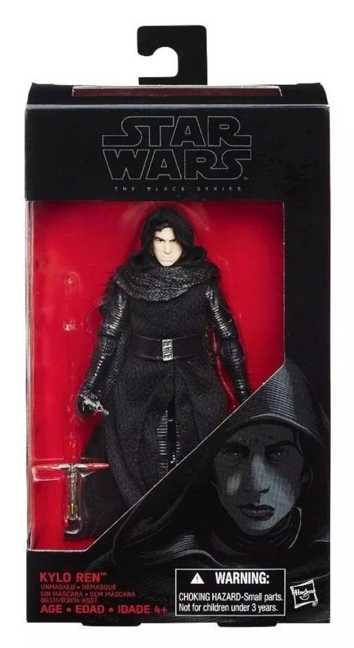 """Unmasked Kylo Ren Star Wars Rogue One The Black Series 6"""" Action Figure #Hasbro"""