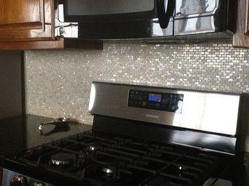 """OYSTER"" Mother of Pearl Mosaic backsplash shell tile - transitional - Tile - Mosaic & Tile Source Inc."