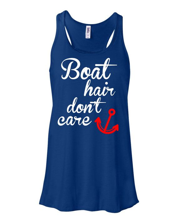 Boat Hair Don't Care 4th Fireworks Summertank4th of July by ATRS