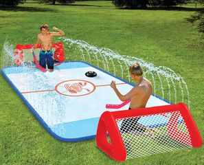 Hockey anyone? @Nichole Nervig ~I saw this and thought Sawyer would love it for summer!