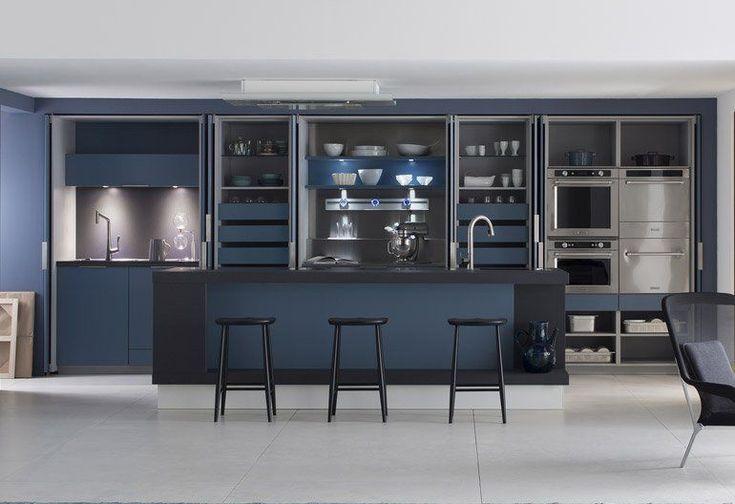les 25 meilleures id es concernant cuisines bleu marin sur pinterest armoires de cuisine. Black Bedroom Furniture Sets. Home Design Ideas