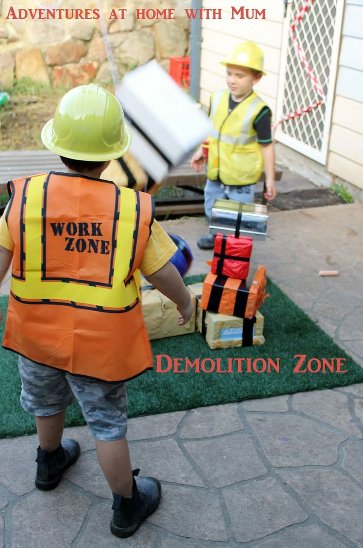 Adventures at home with Mum: Demolition Ball Construction Party Game