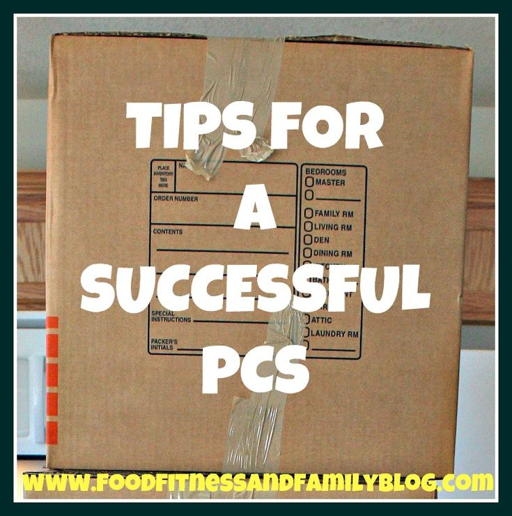 Tips For A Successful PCS Move