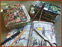 Je agenda zelf vol plaatjes plakken...niet alleen David Cassidy maar ook plaatjes van de tv serie Bartje.