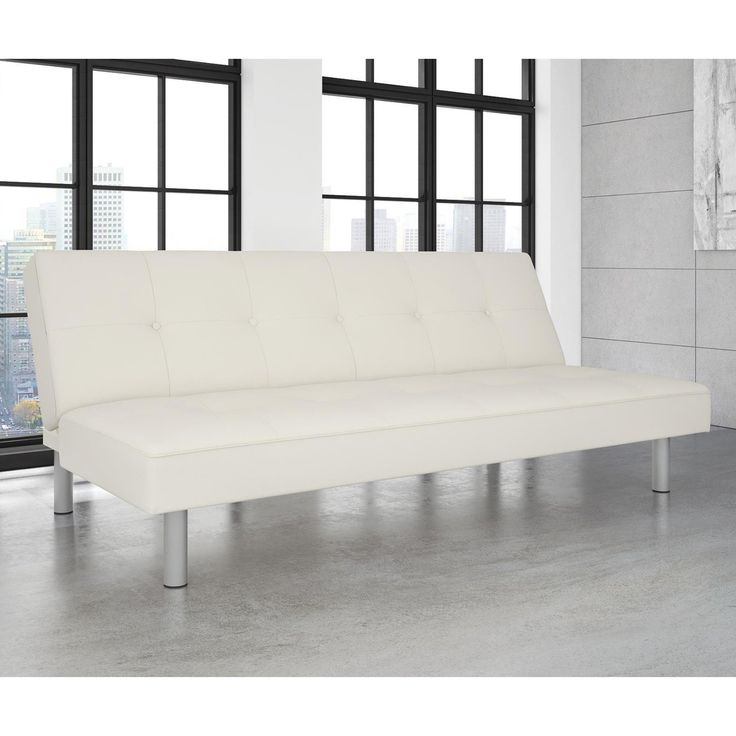 DHP Nola White Faux Leather Futon - 2051109