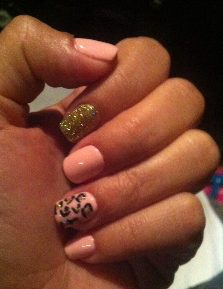 Pink, Pink Gold, Nails Ideas, Cheetah Nails Light Pink, Shellac Nails