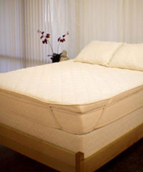 "Pure Rest Organic Natural Rubber 3"" Bed Mattress Padded Topper Cover All Sizes! #PureRest"