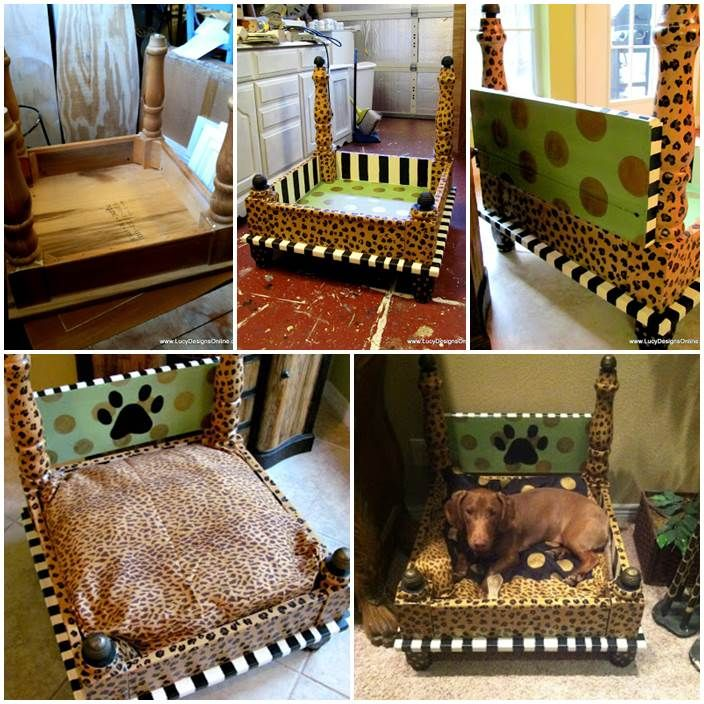 47 best DIY Canopy Dog Bed images on Pinterest | Doggies ...