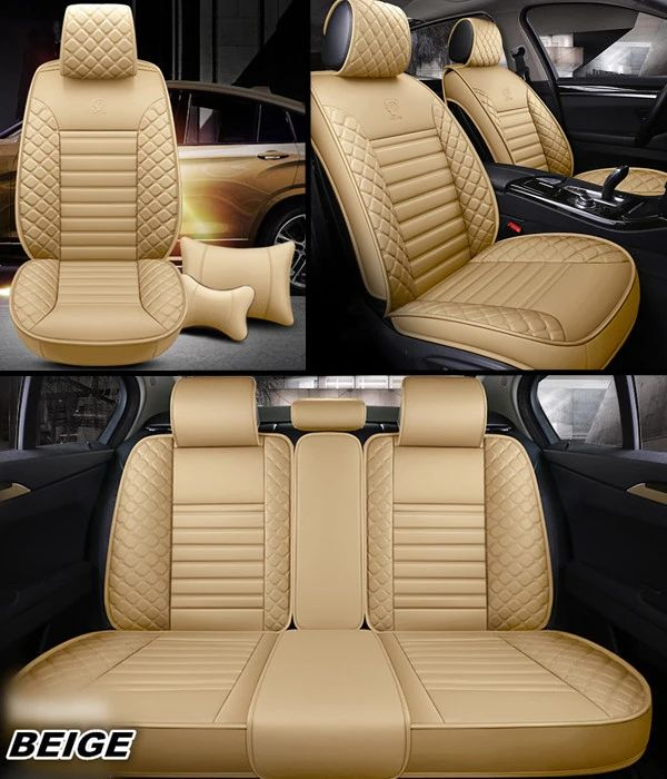 Auto SUV Leather Car Seat Covers Luxury Full Set Universal