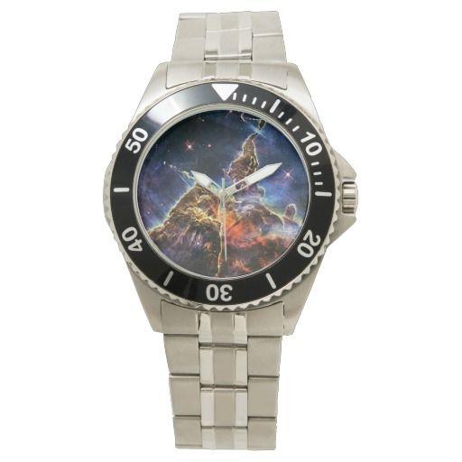 Carina Nebulae or Mystic Mountain space wrist watch