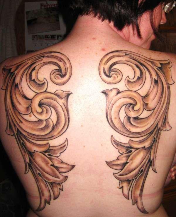 filigree wings tattoo filigree tattoo pinterest. Black Bedroom Furniture Sets. Home Design Ideas