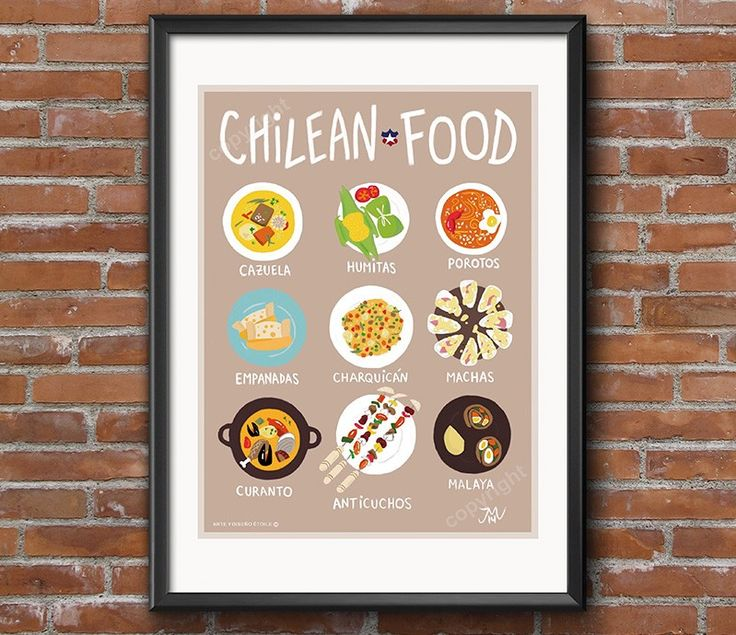 Afiche chilean Food - Bendito