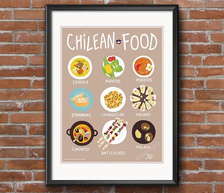 Afiche chilean Food - Bendito