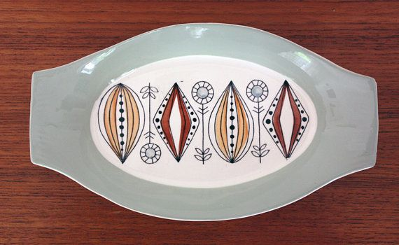 A vintage Egersund Norway ceramic tray by janestangerinehouse, £14.00