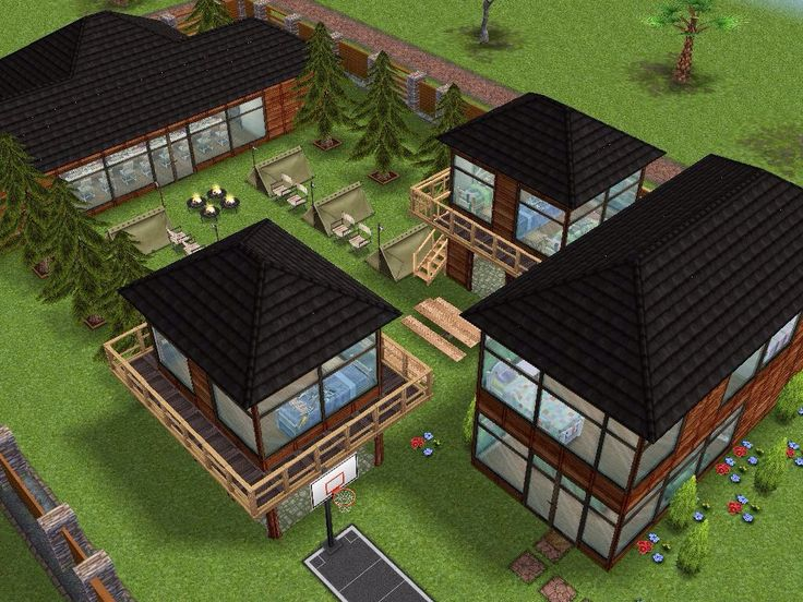 House 51 (camp Ground) Full View #sims #simsfreeplay #simshousedesign