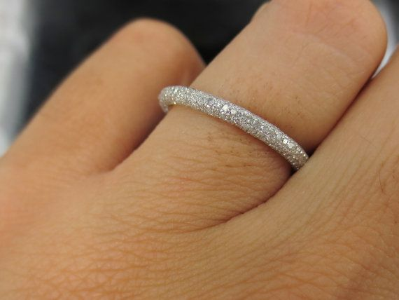 0.70cts Micro Pave Diamond 5Row Eternity Band by ZinaFineJewelry