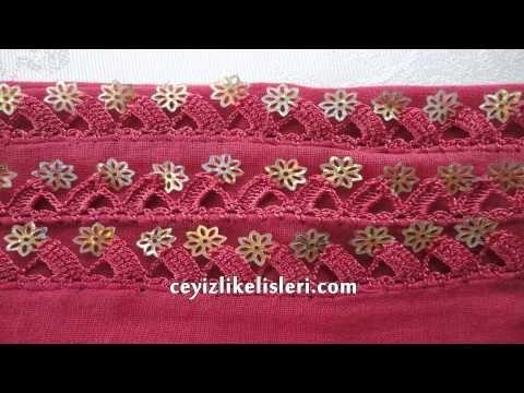 Çeyizlik Pul Oyası Örneği : New Stamp Lace Pattern - YouTube