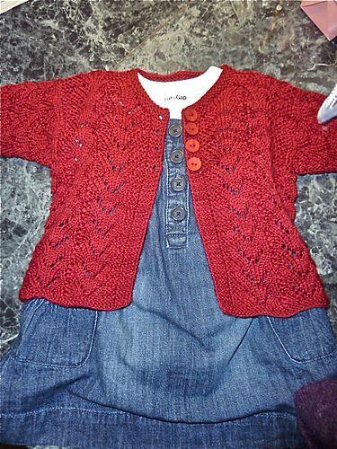 Bonita chaqueta para niña... para hacer en cualquier color!