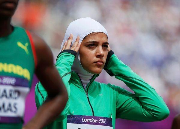 Sarah Attar, Berjilbab di Atletik Olimpiade