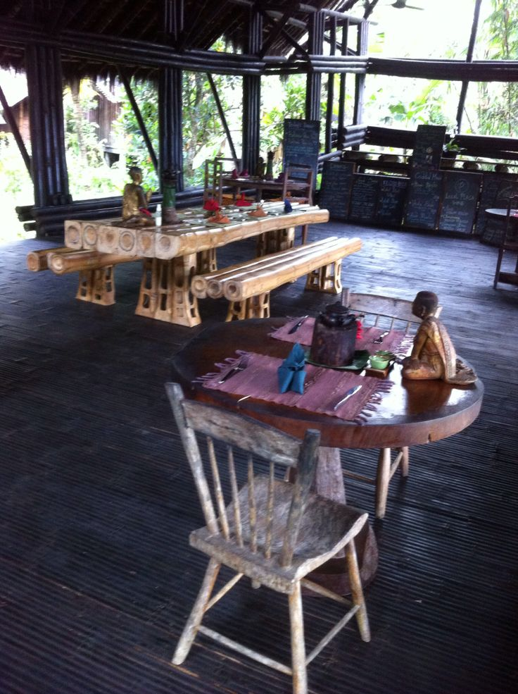 Bamboo furniture in bamboo house #iPhone #NoFilter