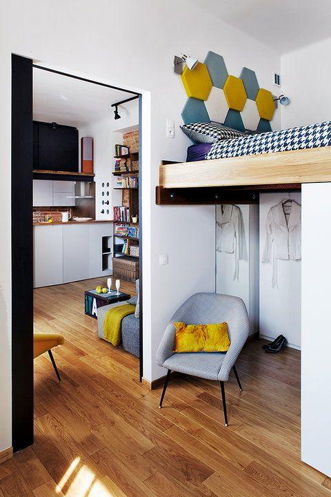 54-metrowe mieszkanie Agnieszki i Sylwestra - urządzone w loftowym stylu - Dom