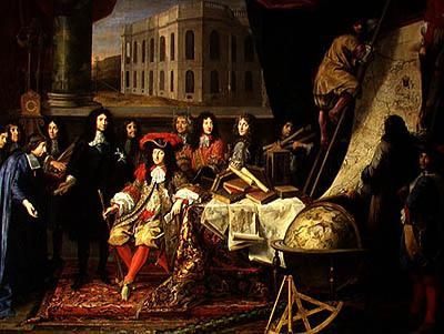 Presenting the Members of the Royal Academy of Science to Louis XIV -