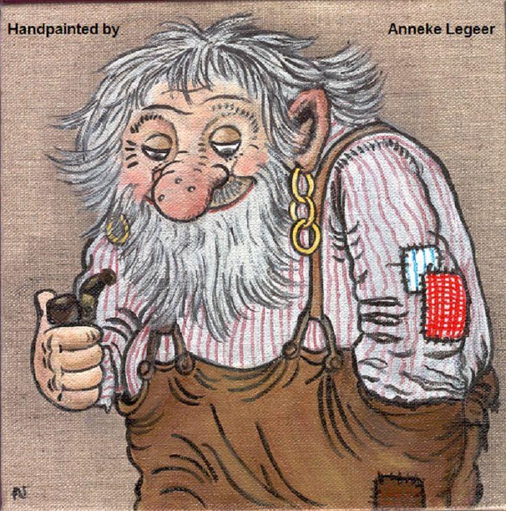 """"""" NOLBYGUBBEN """", handpainted by Anneke Legeer, naar voorbeeld van Rolf Lidberg, mei 2013"""
