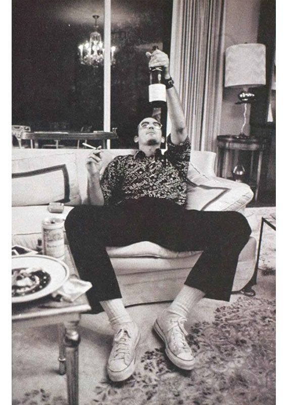 Salute! Hunter S. Thompson, doing what he did best - after writing.