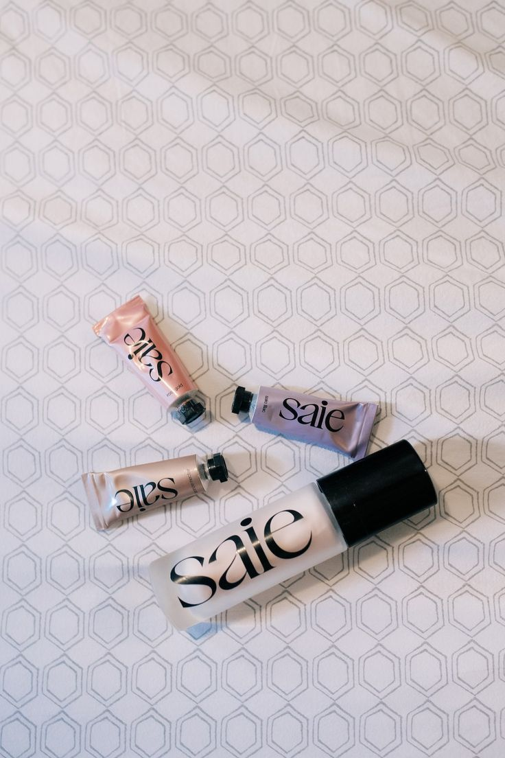 Saie's new GLOW Products (+ Swatches Swatch, Brow gel