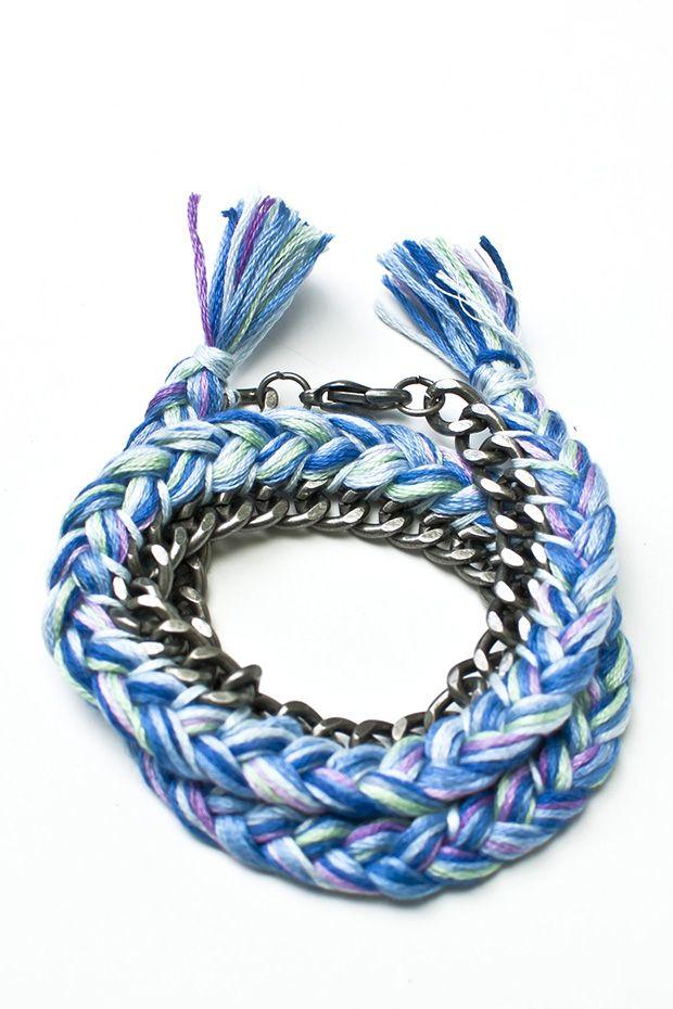 Luxury embroidery thread bracelets diy makaroka