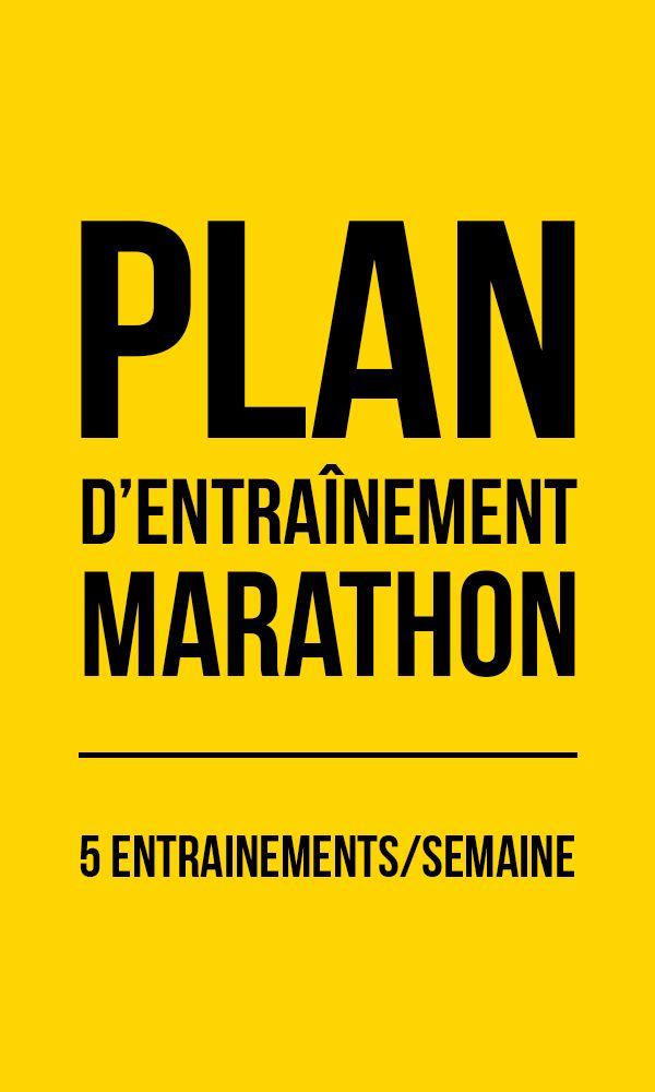 le plan d u2019entra u00eenement marathon 5 s u00e9ances par semaine sur 12 semaines  c u2019est le plan pour mettre