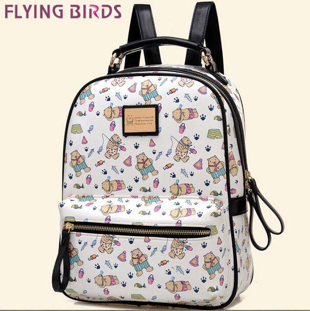 Купить товарЛетящие птицы! женщины рюкзак Mochila женские кожаные рюкзаки мода коробка дорожные сумки школьные сумки высокое качество сумка LS5676 в категории Рюкзакина AliExpress.                Дизайн: рюкзак, мешок школы                 Материалы: искусственная кожа