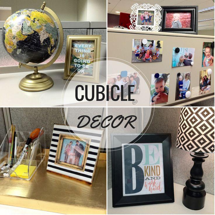 Decorating A Cubicle : Blogger Jesse Coulter #deskdecor