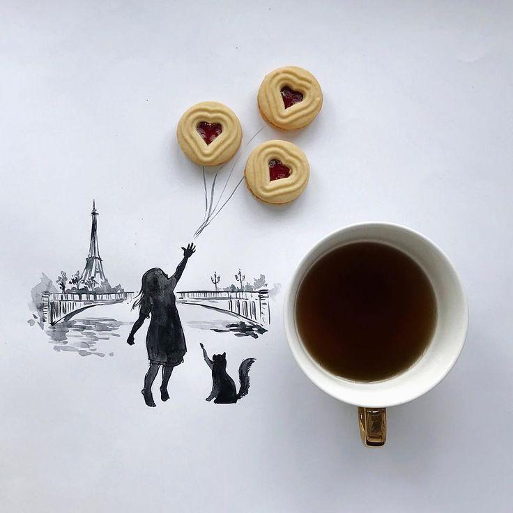 """""""Niente di meglio che una tazza bollente di caffè o tè stretta tra le dita e qualche scorcio d'ispirazione per inaugurare al meglio la settimana. Buongiorno a chi non smette mai di sognare. """"  - Mary Chioatto"""
