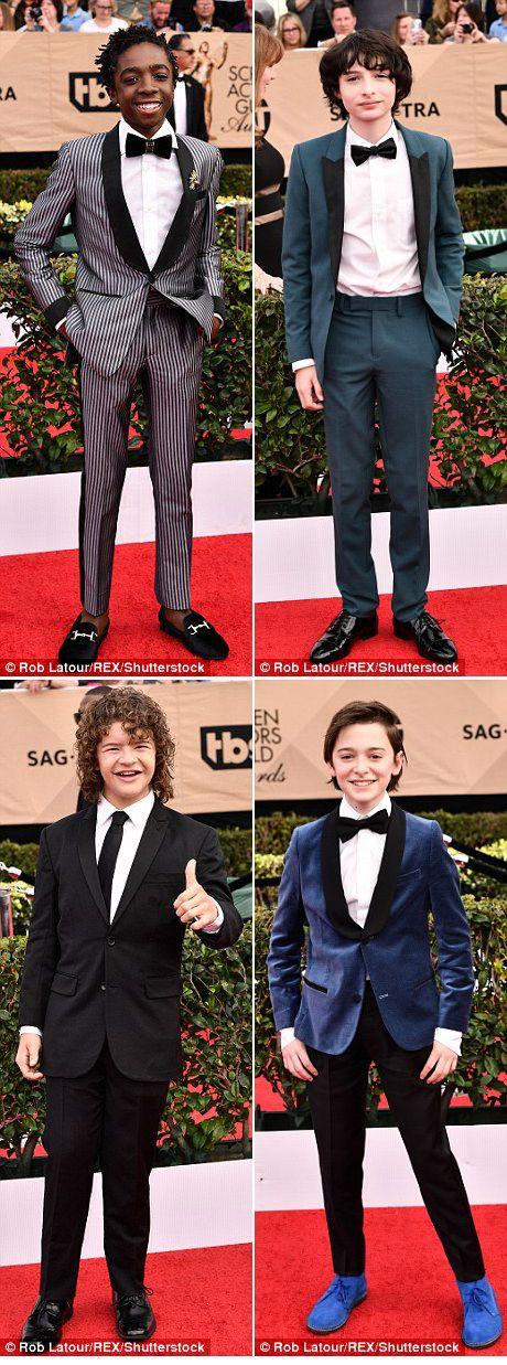 The Stranger Things kids at the 2017 SAG awards