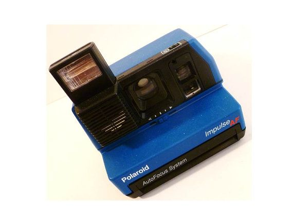Polaroid Impulse Blue Camera Auto by ClearlyRustic on Etsy, $30.00