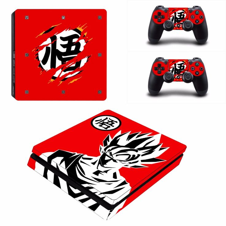 Fresh Click to Buy uc uc Red GOKU Vinyl Decal PS Slim Skin Stickers Wrap