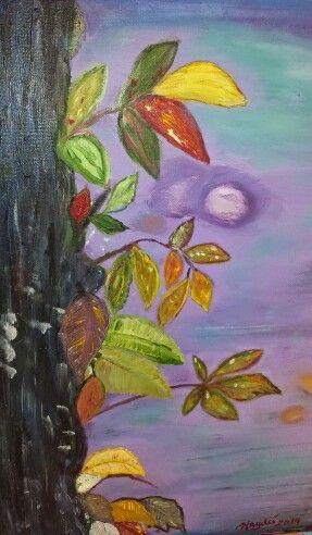 Arbol de otoño. Oleo