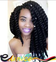 Full-Size Havana Twist Crochet Braids Hair Extensions Havana Mambo Twist Crochet Braid Hair Synthetic Braiding Hair Box Braids