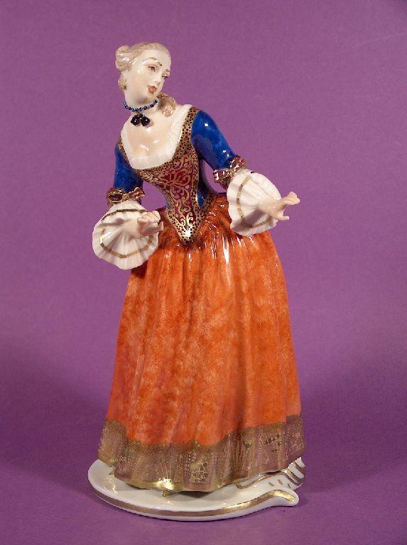 Rarität Nymphenburg Porzellan Figur Isabella Commedia dell´Arte F. A. Bustelli