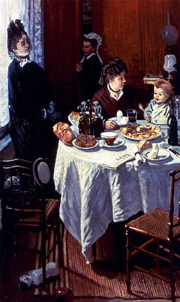 The Luncheon by Claude Monet (1868).