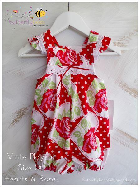 Vintie Romper Size 00 | Butterflybees | madeit.com.au