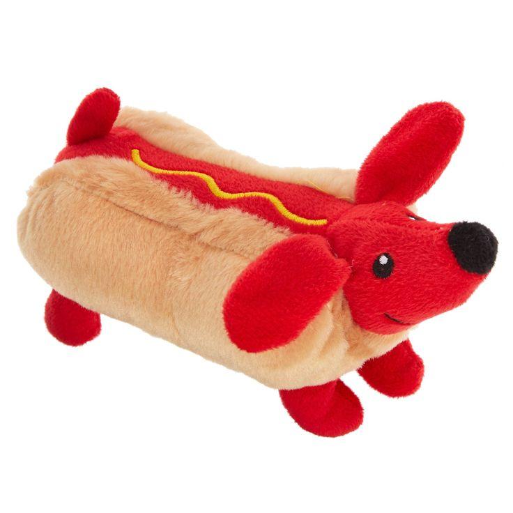 Thrills And Chills Halloween Wiener Hot Dog Toy Plush Squeaker