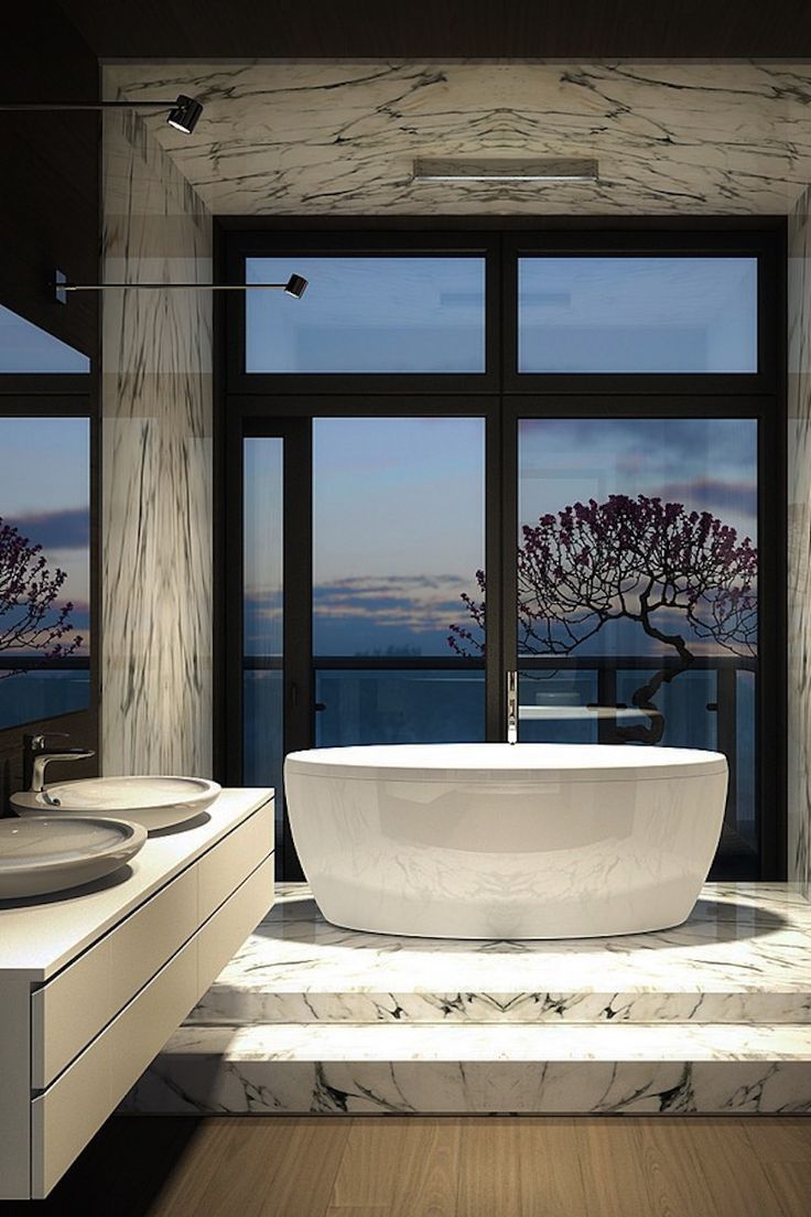 10 Luxury Bathtubs with an Astonishing View ➤To see more Luxury Bathroom ideas visit us at www.luxurybathrooms.eu #luxurybathrooms #homedecorideas #bathroomideas @BathroomsLuxury