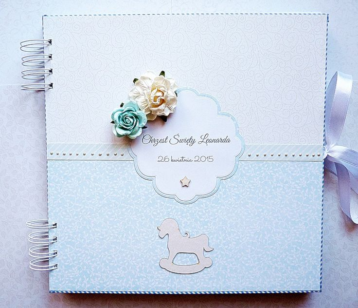 baby boy baptism guest book