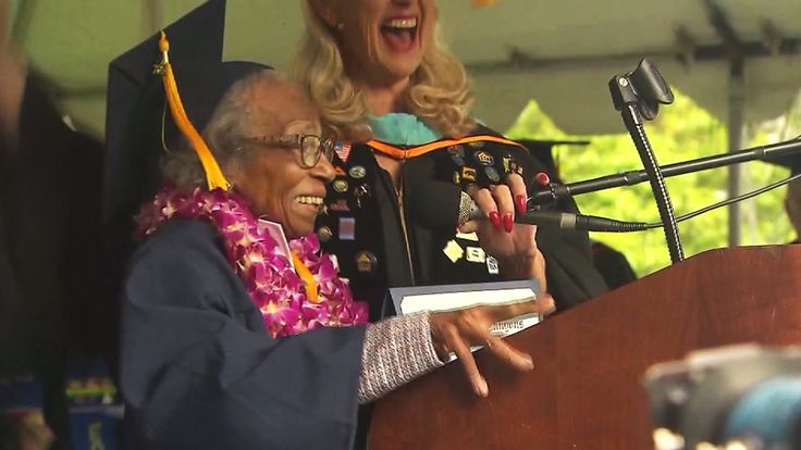 A 99-year-old Agua Dulce woman earned cheers and tears on Friday when she celebrated graduating from College of the Canyons before turning a century old. Doreetha Daniels has been studying at the c…